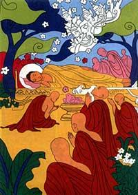 Dood van Boeddha (Parinirvana)