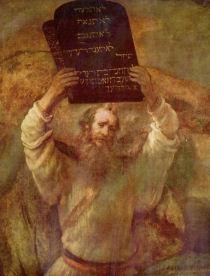 Verschijning van de Heer op de Sinai (De Tien Geboden)